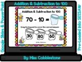 Spring Digital Math Activity-Addition & Subtraction to 100(SEESAW,GOOGLE SLIDES)