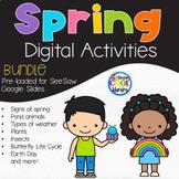 Spring Digital Mini Books BUNDLE - Google Slides & SeeSaw