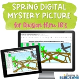 Spring Digital Mystery Picture for Division Facts to 10's
