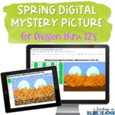 Spring Digital Mystery Picture for Division Facts to 12's