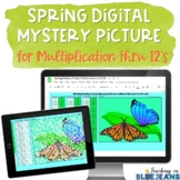 Spring Digital Mystery Picture for Multiplication Facts to