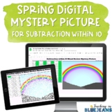 Spring Digital Mystery Picture for Subtraction within 10 |