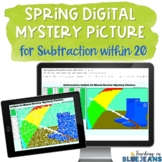 Spring Digital Mystery Picture for Subtraction within 20 |