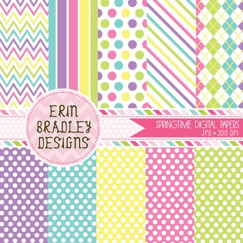 Spring Digital Paper Bundle