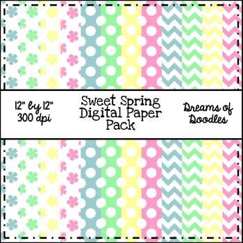 Sweet Spring Digital Paper Pack