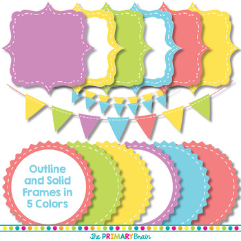 Spring Digital Paper and Clip Art Pack