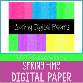 Spring Digital Papers
