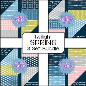 Spring Digital Papers - Twilight BUNDLE