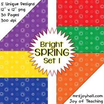 Spring Digital Papers - Brights Set 1