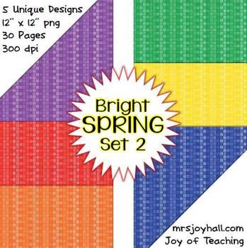 Spring Digital Papers - Brights Set 2