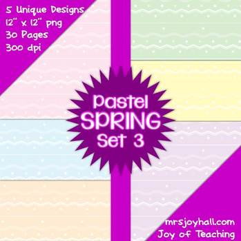 Spring Digital Papers - Pastels Set 3