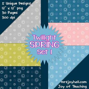 Spring Digital Papers - Twilight Set 1