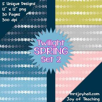 Spring Digital Papers - Twilight Set 2