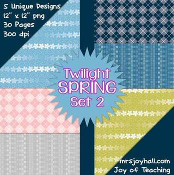 Spring Digital Papers - Twilight Set 2