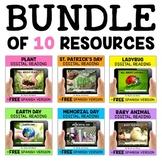 Spring Digital Reading Comprehension Bundle