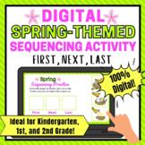 Spring Digital Sequencing Activity for 1st Grade   Kindergarten   2nd Gr
