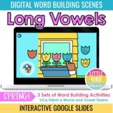 Spring Digital Word Building - Long Vowels | Google Slides