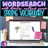 Spring Digital Word Search online game for distance learning