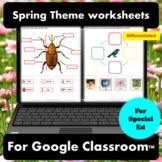 Spring Digital Worksheets for Special Education | Distance