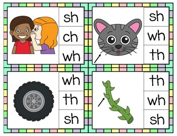 Spring Digraph Clip Cards