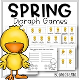 Spring Digraph Game to Practice Consonant Digraphs