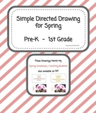 Spring Directed Drawing  FREEBIE