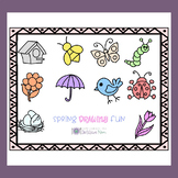 Spring Directed Drawing and Handwriting Activities Pack