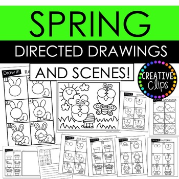 Spring Directed Drawings and Scenes {Made by Creative Clips Clipart}