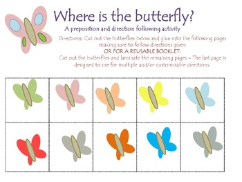 Spring Direction Following & Concepts Quick Activity