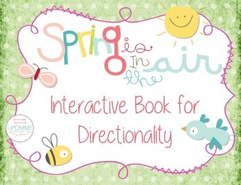 Spring Directionality Interactive Beginning Reader Book Special Education