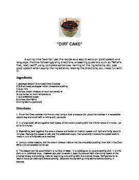 Spring Dirt Cake Recipe