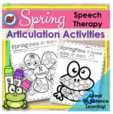 Spring Earth Day Distance Learning Articulation|Speech| #A