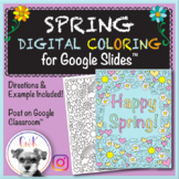 Spring Distance Learning Digital Coloring Pages for Google
