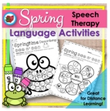 Spring Earth Day Distance Learning Language |Speech Therapy