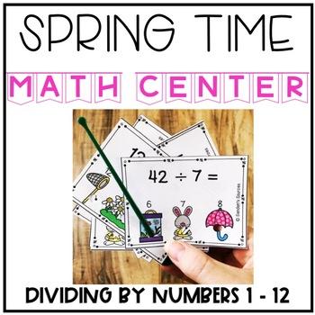 Spring Dividing Interactive Task Cards