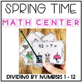 Spring Dividing Interactive Task Cards