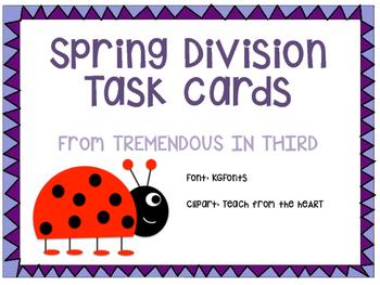 Spring Division Task Cards