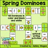 Spring Domino Game with Writing Sheet Options - Seasonal Dominoes