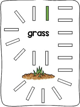 Spring - Domino fine motor letter formation activity mats - English