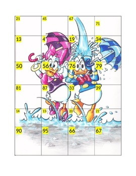 Spring Donald Duck Number Puzzle