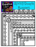 Spring Doodle Borders {Creative Clips Digital Clipart}