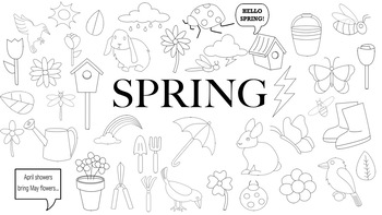 Spring Doodle Clipart
