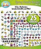 Spring Doodle Frame Borders {Zip-A-Dee-Doo-Dah Designs}