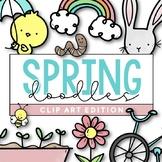 Spring Doodles - Clip Art [IN COLOR!]