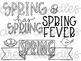 Spring Doodles Digital Clip Art Set- Black Line Version