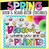 Spring Door & Board Decor {Editable!}