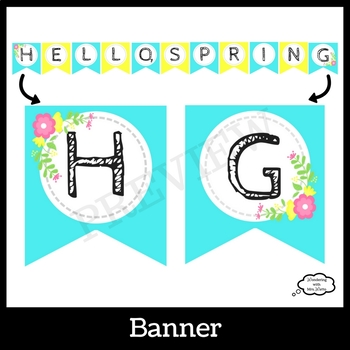 Spring Door Decor Kit with Writing Prompts