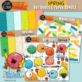 Spring Dot Dudes and Digital Paper BUNDLE