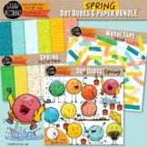 Spring Dot Dudes and Digital Paper BUNDLE