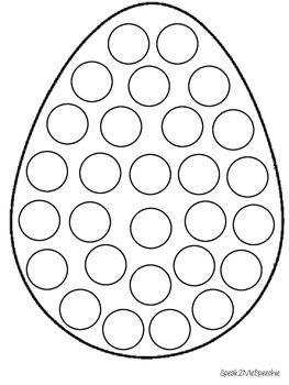 Spring Dot an Egg Speech Activity